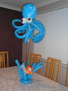 Balloon octopus centerpiece