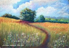Fran Redmon Fine Art, Pastel Painting titled,  Peaks Mill Mailboxes