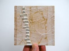 poem no. 4 - mixed media collage