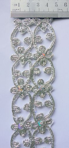 Silver Handmade Trim with Intricate Cut Work