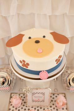 Puppy cake. A Puppy Pawty » Hello Love Designs