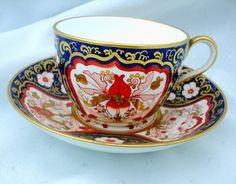Antique Davenport exquisite tea cup and saucer