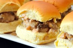 Pioneer Woman's Mushroom Sliders for PW Wednesday!