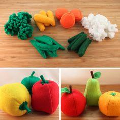 Frutas y hortalizas de fieltro