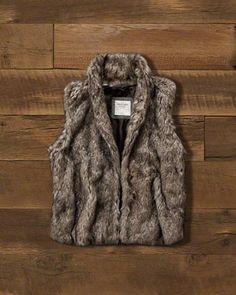 Womens Faux-Fur Vest. Abercrombie.com