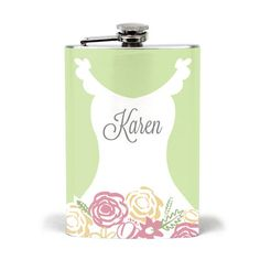 Formal Spring Bride Stainless Steel Flask