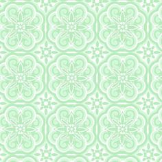 Cool Sage Floral Medallion Flannel 100% cotton Flannel $5.50 per yard 15 yards available