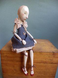 Clementina art doll Clay dolls Hand made art Ceramic от Petuqui