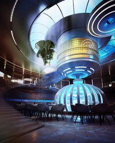 Underwater hotel -Modern architecture in Dubai