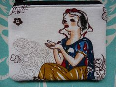Handmade Card Coin Purse Rare Snow White Linen Fabric Bird Retro Cosmetic Pouch in Clothes, Shoes & Accessories, Women's Accessories, Purses & Wallets | eBay