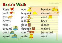 Rosie's Walk word mat