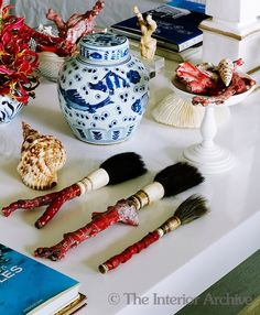 Chinoiserie Chic: Styling with Calligraphy Brushes