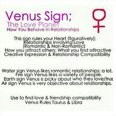 Love signs  venus ❤ #Aries #Taurus #Gemini #Cancer #Leo #Virgo #Libra #Scorpio…