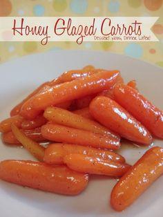 Honey Glazed Carrots - Dessert Now, Dinner Later!