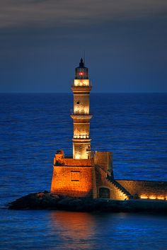 Lighthouse at Night | Chania Lighthouse at night | Flickr - Photo Sharing!
