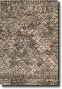 Sometimes a patterned rug,sometimes a solid; and then there are the times when the best choice is an earthy palette of misty haze and mottled pattern