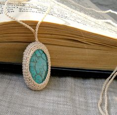 Turquoise Crochet Necklace
