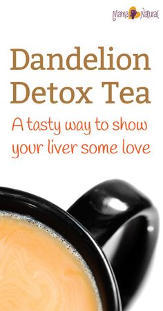 Show your liver some love with this tasty dandelion root tea detox drink! PALEO, Gluten and GMO-free, and super tasty too.