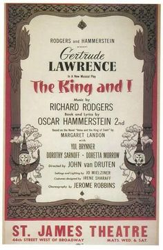 King And I, The - Broadway Poster , 1951 Masterprint at AllPosters.com