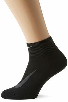 Nike Men's Elite Run Lightweight Quarter Black Socks 91208908625 Running Socks, Nike Running, Black Socks, Briefs Underwear, Dress Socks, All Black, Nike Men, Fashion, Black Stockings