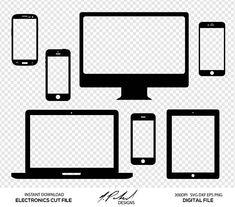 Electronics Digital Cut Files  Digital Files  Electronics SVG Electronics DXF Iphone SVG Iphone DXF Ipad SVG Imac SVG Electronics Clip Art Silhouette Cricut Cut Files