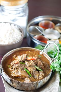 Spicy Beef curry that goes well well with ghee rice, appam, parotta, puttu and chappathi. #keralastyle #beefcurry #beef #curry #glutenfree #paleo