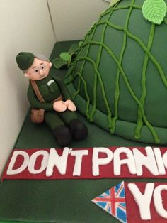 Dads army birthday cake Liberation Cake Ideas Pinterest Army