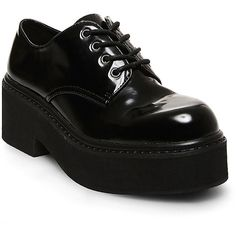 Steve Madden Women's Wyneee Oxford Shoes (205 RON) ❤ liked on Polyvore featuring shoes, oxfords, black, boots, black brogues, brogue shoes, black platform shoes, black wingtip shoes and wingtip oxfords