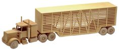 Shop for Toys and Joys patterns. The Livestock Truck Woodworking Pattern Make quality woodworking projects with quality wood parts. Woodworking Furniture Plans, Woodworking Toys, Woodworking Patterns, Custom Woodworking, Wooden Toy Trucks, Wooden Toys, Tw 125, Wood Toys Plans, Wood Supply