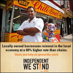Another great reason to support independent businesses. Help us spread the #BuyLocal word - please share!