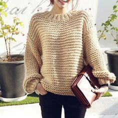 Картинки по запросу свитер с крупной вязкой