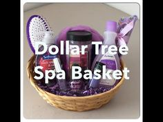 DIY Dollar Tree SPA Gift Basket! For Mother's Day, Valentines, Birthday, Any All Occasion! - YouTube