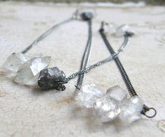 Extra Long Quartz Necklace Crystal Quartz by RachelUngerJewelry, $44.00