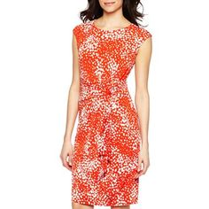 Polka Dot Cap Sleeve Dress from JC Penney - for the wedding