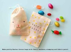 Easter can not commence without adequately adorable bunny candy bags.