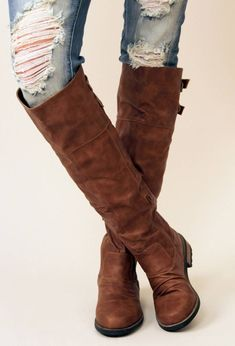 #Knee High Boots, Cognac.