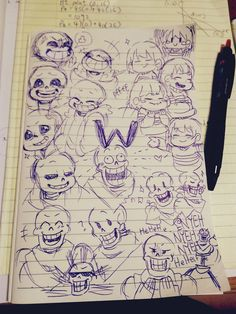 Some cute sketches! Look at the genuine sans smile!! You know the one I'm talking about, and it's adorable!
