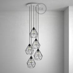 Ronde 35 cm XXL plafondplaat met 5 gaten + accessoires #LampEettafel