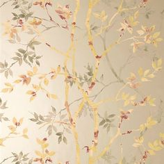 Anna French Tyndall Gold on Metallic Pewter tapéta - Paisley Home Anna French Wallpaper, Cool Wallpaper, Pattern Wallpaper, Chinoiserie Wallpaper, Designer Wallpaper, Decoration, Printing On Fabric, Wall Art, Artwork