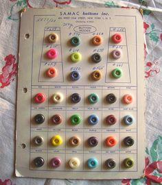 1930/'s Fancy Dress Buttons on original card