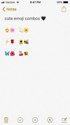 cute emoji combos ♡ Snapchat Nicknames, Snapchat Names, Cute Words, Weird Words, Instagram Emoji, Instagram Quotes, Cute Insta Captions, Emoji Names, Cute Emoji Combinations
