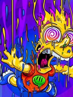 Melting Bart, The SimpsonsYou can find The simpsons and more on our website.Melting Bart, The Simpsons Cartoon Wallpaper, Simpson Wallpaper Iphone, Trippy Wallpaper, Graffiti Wallpaper, Iphone Wallpaper, Graffiti Art, Simpsons Drawings, Simpsons Art, Arte Dope