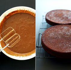 Easy One Bowl Vegan Chocolate Cake! #vegan