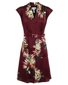 ERDEM | Floral Print Silk Dress with Belt | Browns fashion & designer clothes & clothing
