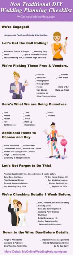 DIY wedding planning checklist. Free printable custom list with tips. - My Online Wedding Help Budget Wedding Blog