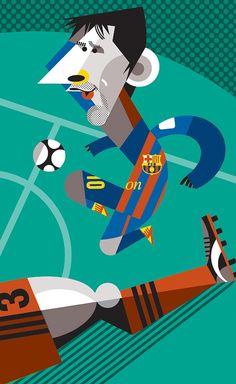 Leo Messi by Pablo Lobato