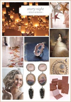 Starry Night: A gold & blush wedding color palette #weddings