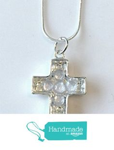Silver Cross Pendant Necklace with Rhinestones from NatureAngels - Handmade, Upcycled and Vintage http://www.amazon.com/dp/B015GJKQ5I/ref=hnd_sw_r_pi_dp_pwNfwb1WV27MY #handmadeatamazon