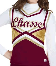 Chassé Metallic Shock Double Knit Cheerleading Uniform Shell Top