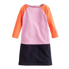 Mini Jules dress from JCrew, paired with leggings is perfect for playtime while still giving her the sense that she's wearing a dress.